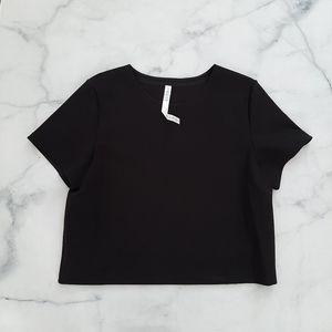 Lululemon Black Minimal Short Sleeve Size 12